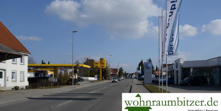 Herbertinger Straße Richtung Kur und Badeort Bad Saulgau