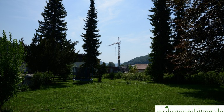 Garten vor dem Haus Borsigstraße Onstmettingen