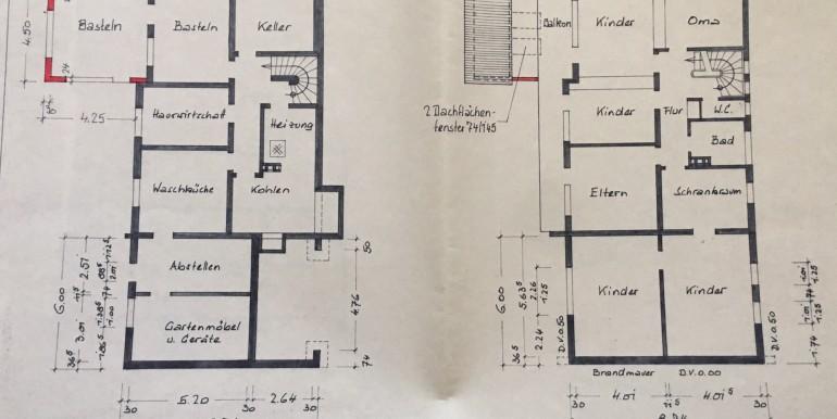 Untergeschoss und Obergeschoss