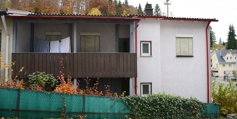 Rückseite Balkon Garten NWS wohnraumbitzer.de Tailfingen