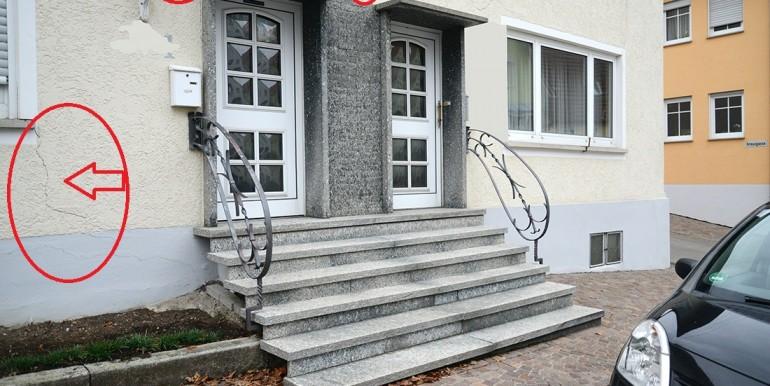 Risse in der Wand Haus Schömberg