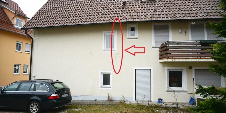 Schäden an der Fassade Schömberg 33