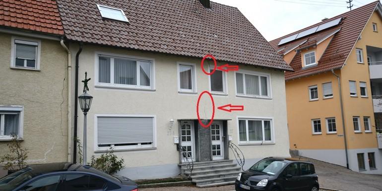 Schäden an der Fassade Schömberg
