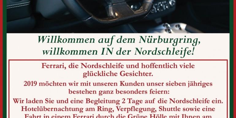 Ferrari Fahren Nordschleife