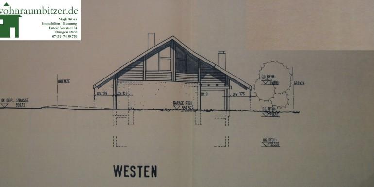 3 Einfamilienhaus Garten Bechtoldsweiler Ansicht West