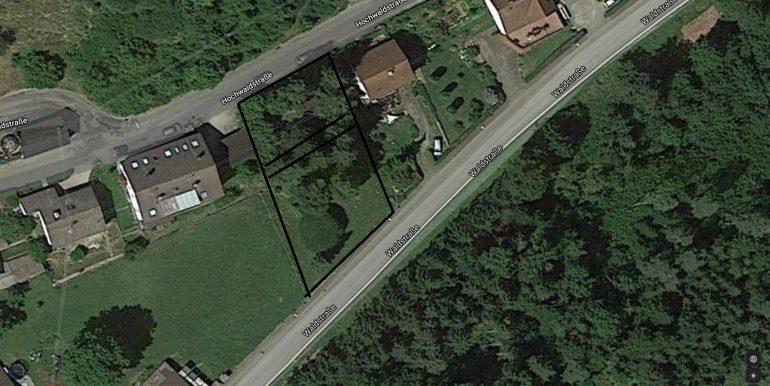 Grundstück Lackendorf Schwarz markiert die Steigung