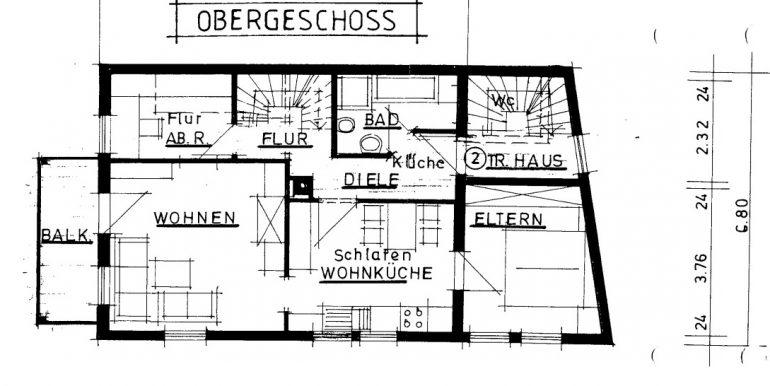 Obergeschoss Plan Burladingen