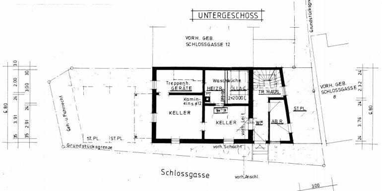 Untergeschoss Plan Burladingen